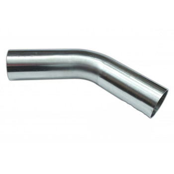 Stainless steel exhaust bend 45° with 40mm diameter