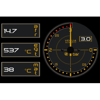 Lancia Delta Integrale 4.3 colour TFT graphical LCD multi...
